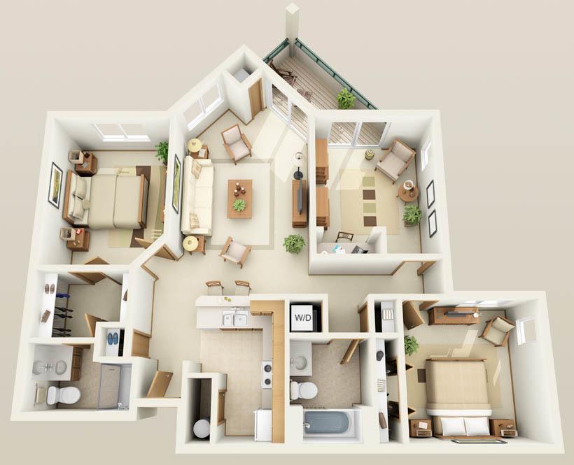 Luxury 1  2 Bedroom Apartments in Pleasant Prairie WI