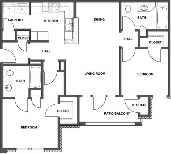 Best 3 Bedroom Apartment Layout