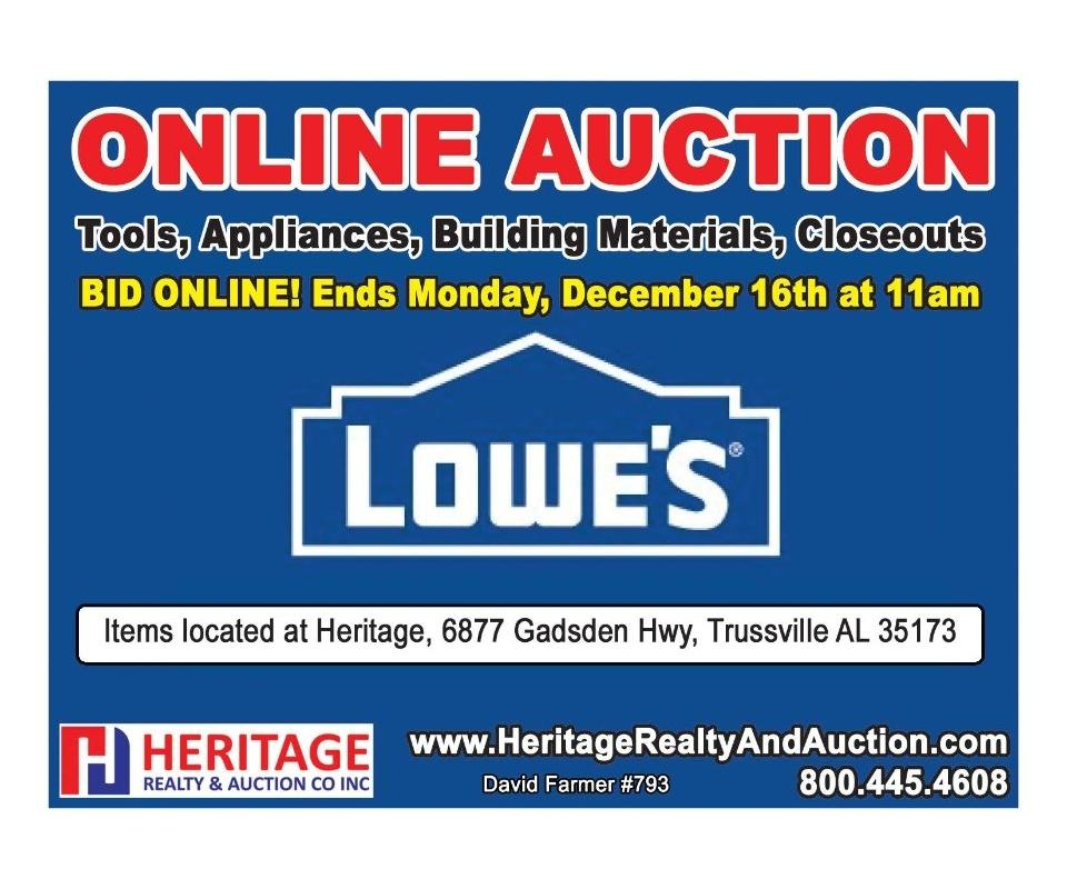lowe s online auction