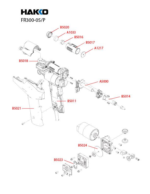 Hakko FR-300 Desoldering Tool