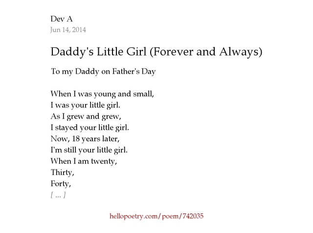 Poems Daddys Little Girl