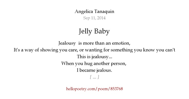 Jealous I Poem Him M
