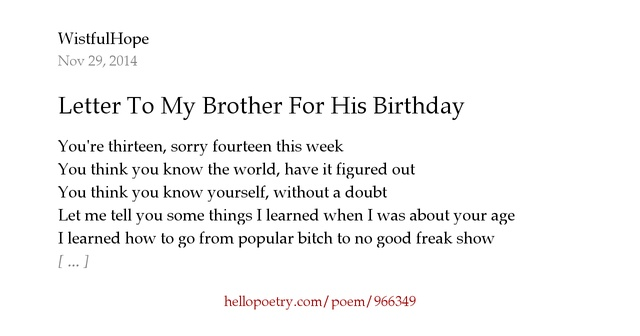 Birthday Poems Friends