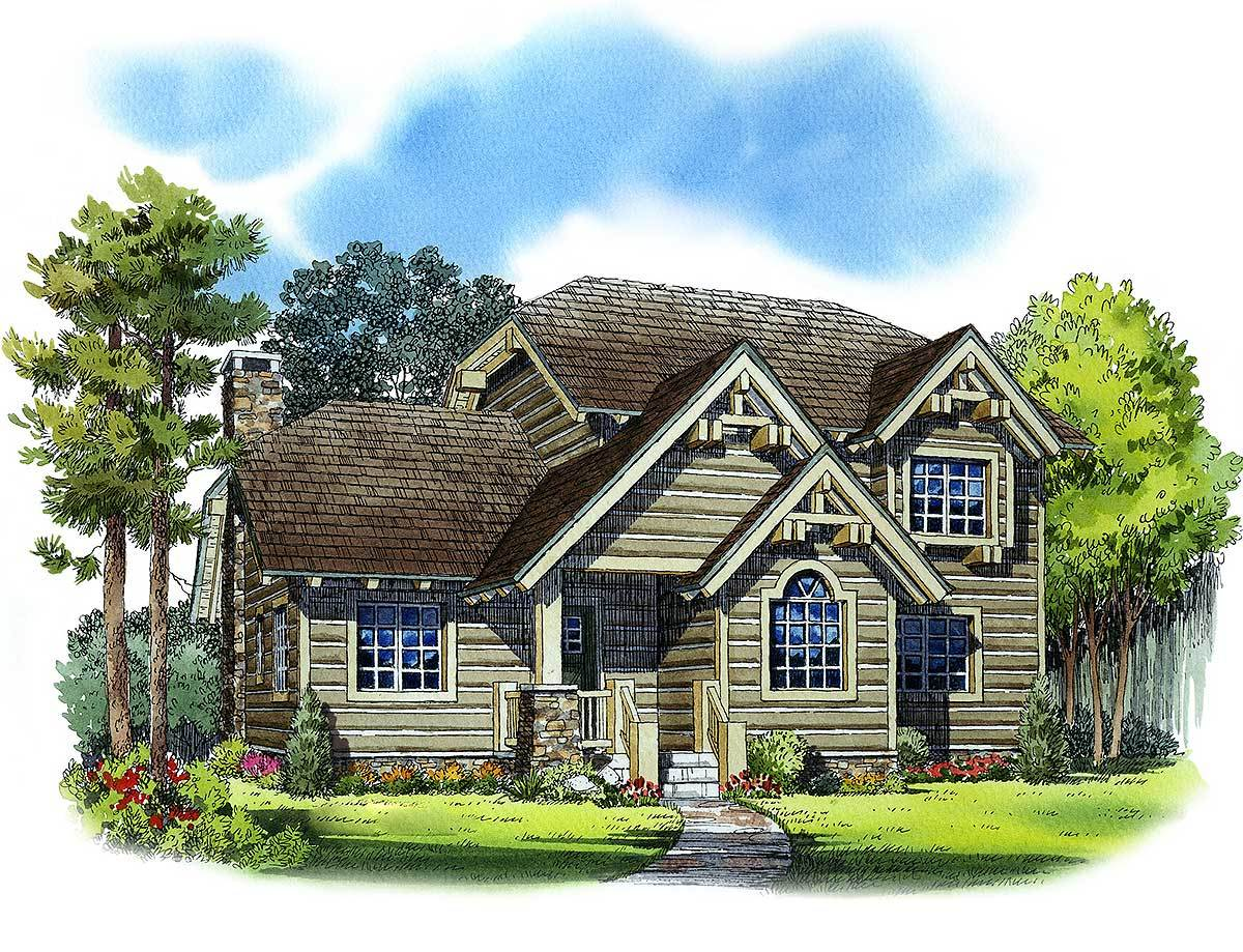 Handsome Mountain House Plan - 11525kn Architectural