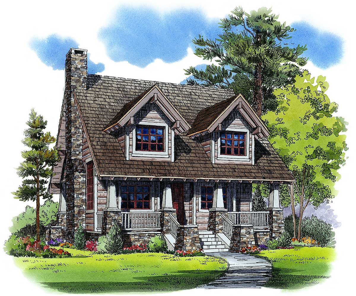 Cozy Mountain House Plan - 11527kn Architectural Design
