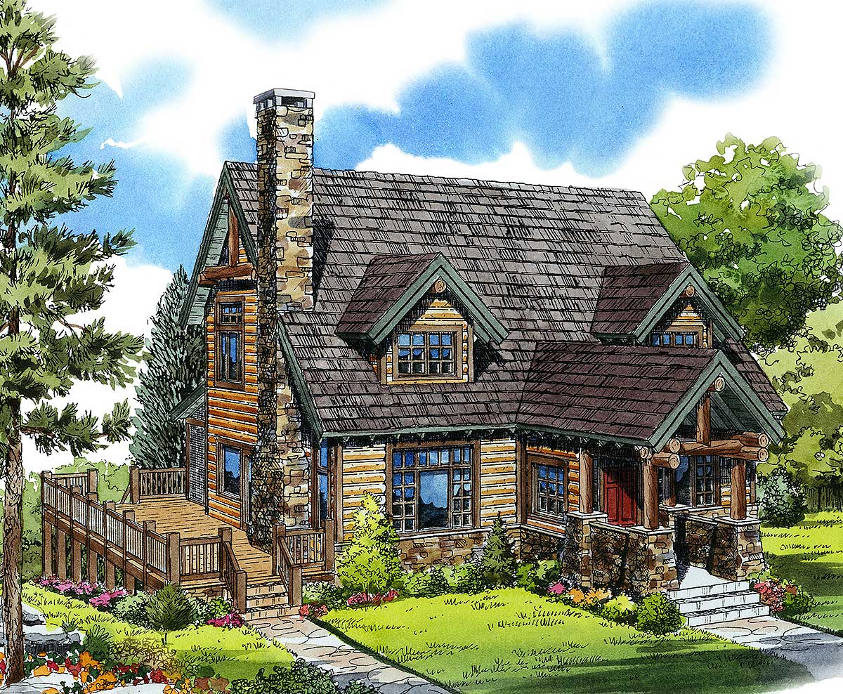 Mountain Cabin - 11545kn Architectural Design House Plans