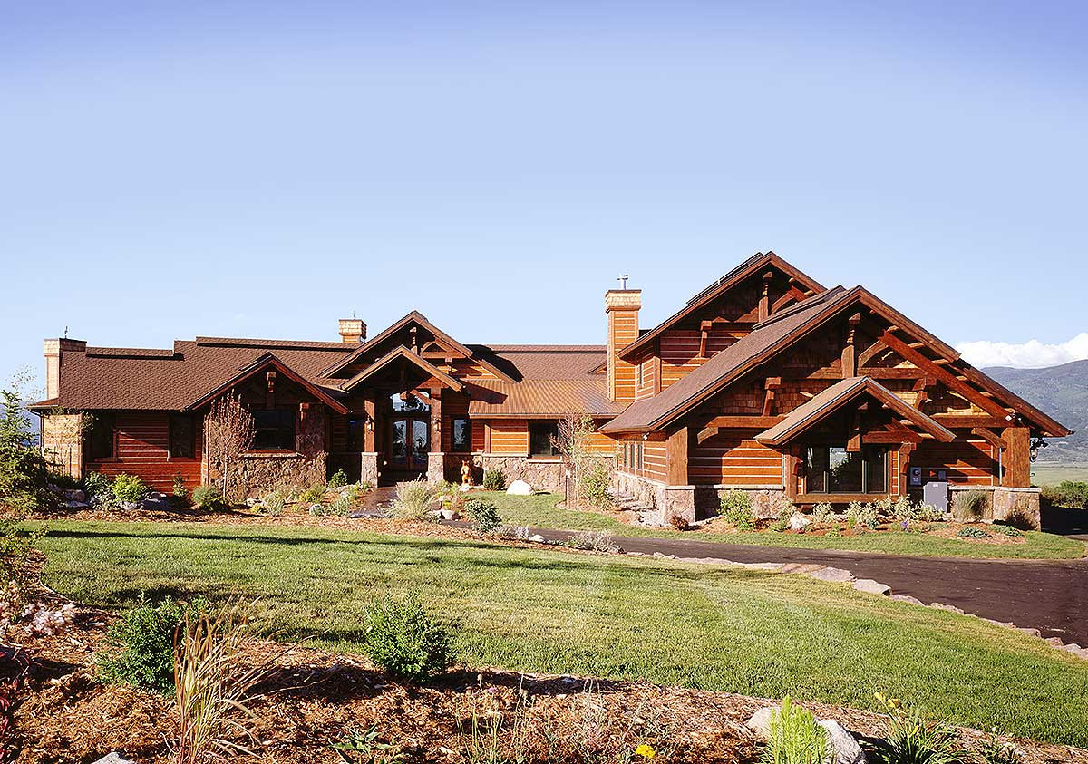 Luxury Mountain Lodge House Plans