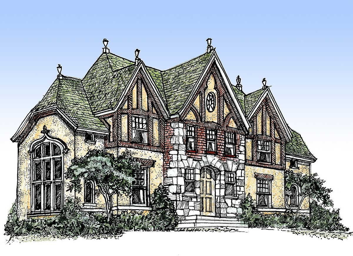 Impressive English Tudor - 11603gc Architectural Design