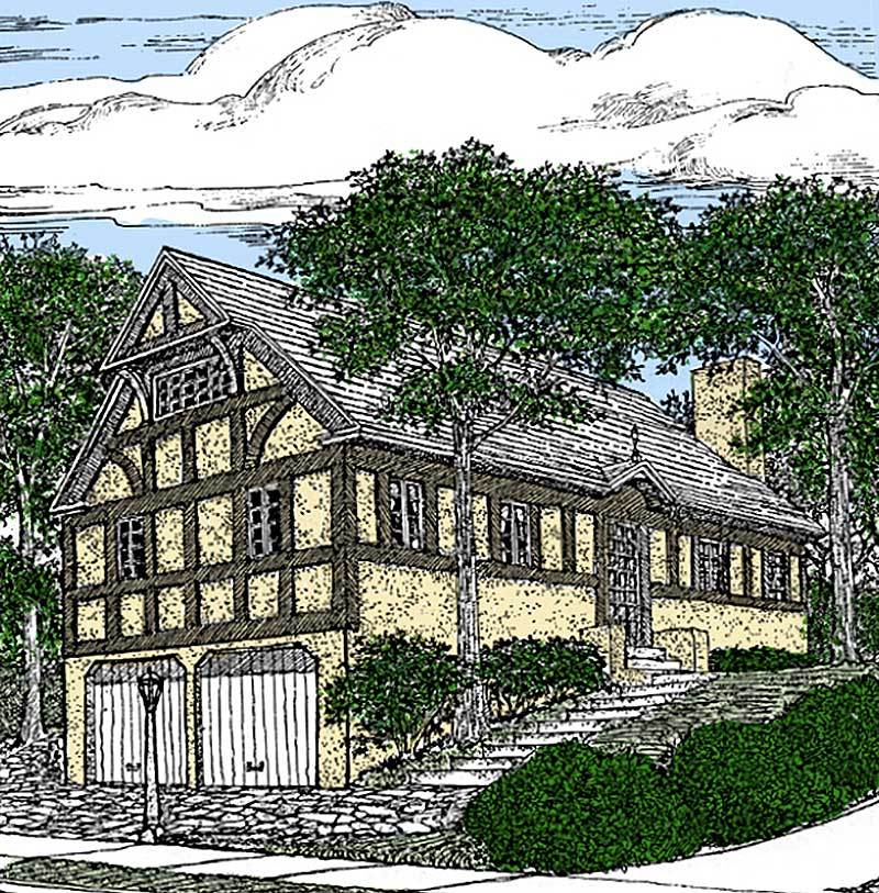 English Tudor Home Plan - 11615gc Architectural Design