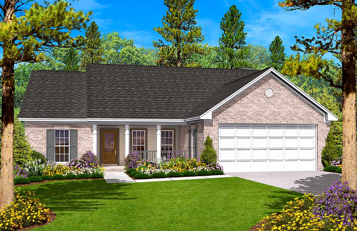 Split Bedroom Ranch House Plan  11703HZ  1st Floor Master Suite CAD Available Country