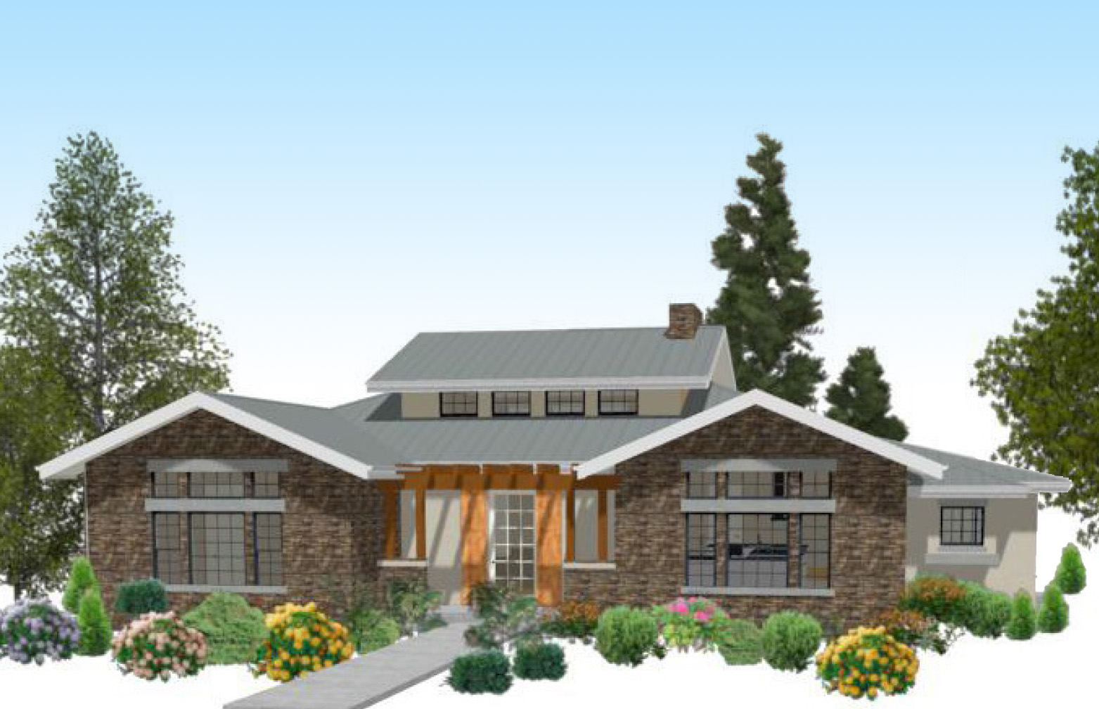 Texas-style Ranch - 12527rs Architectural Design