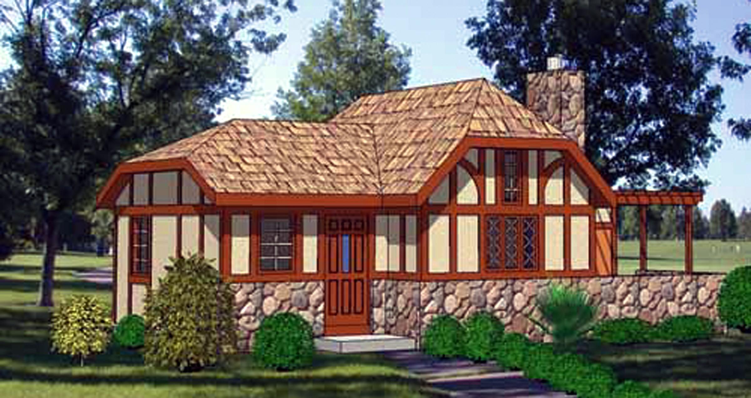 Tiny Storybook Cottage House Plans