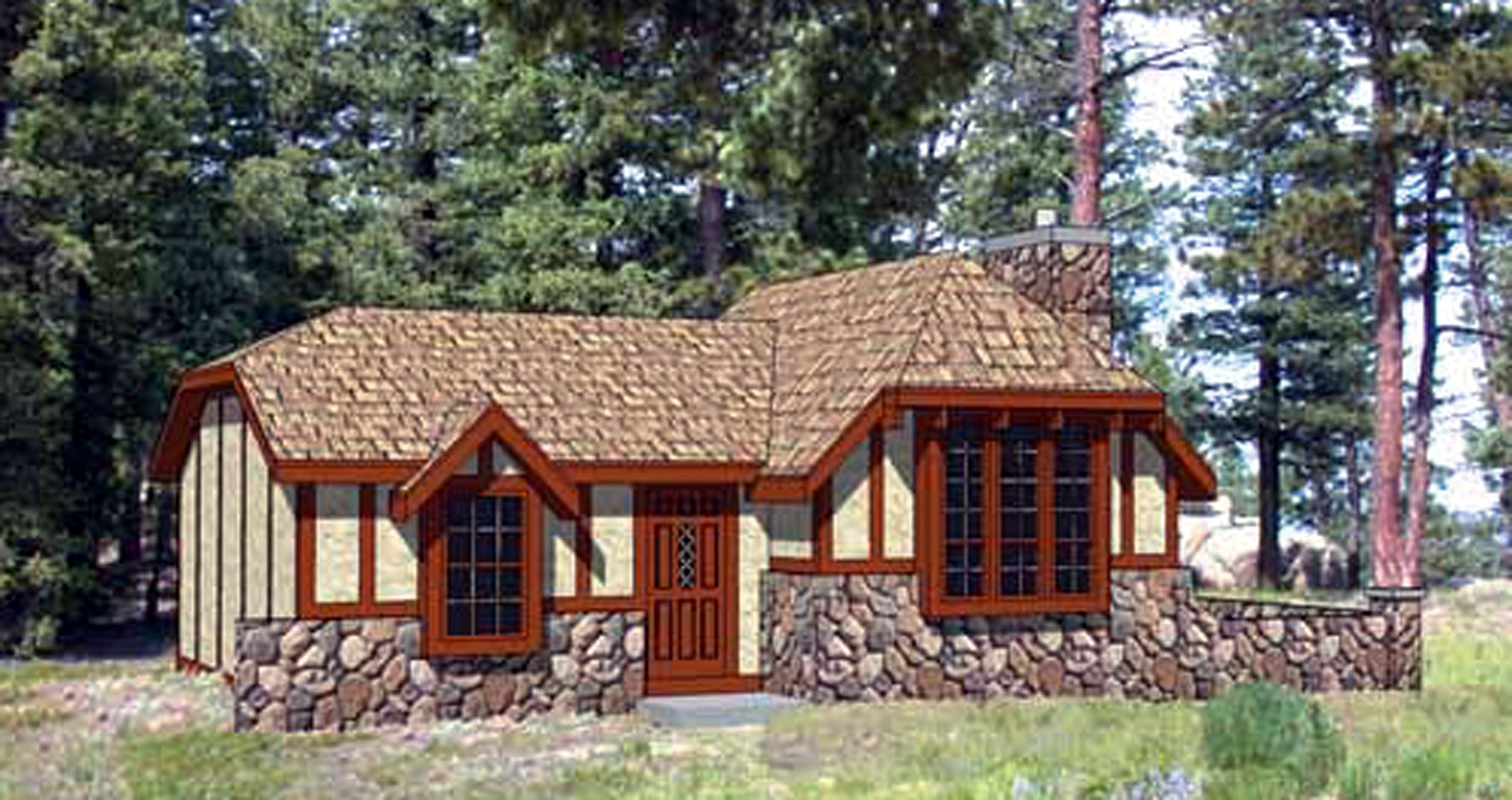 Charming Storybook Cottage - 12721ma Architectural