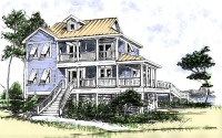 Beach House Plan with Two Story Great Room - 13034FL ...