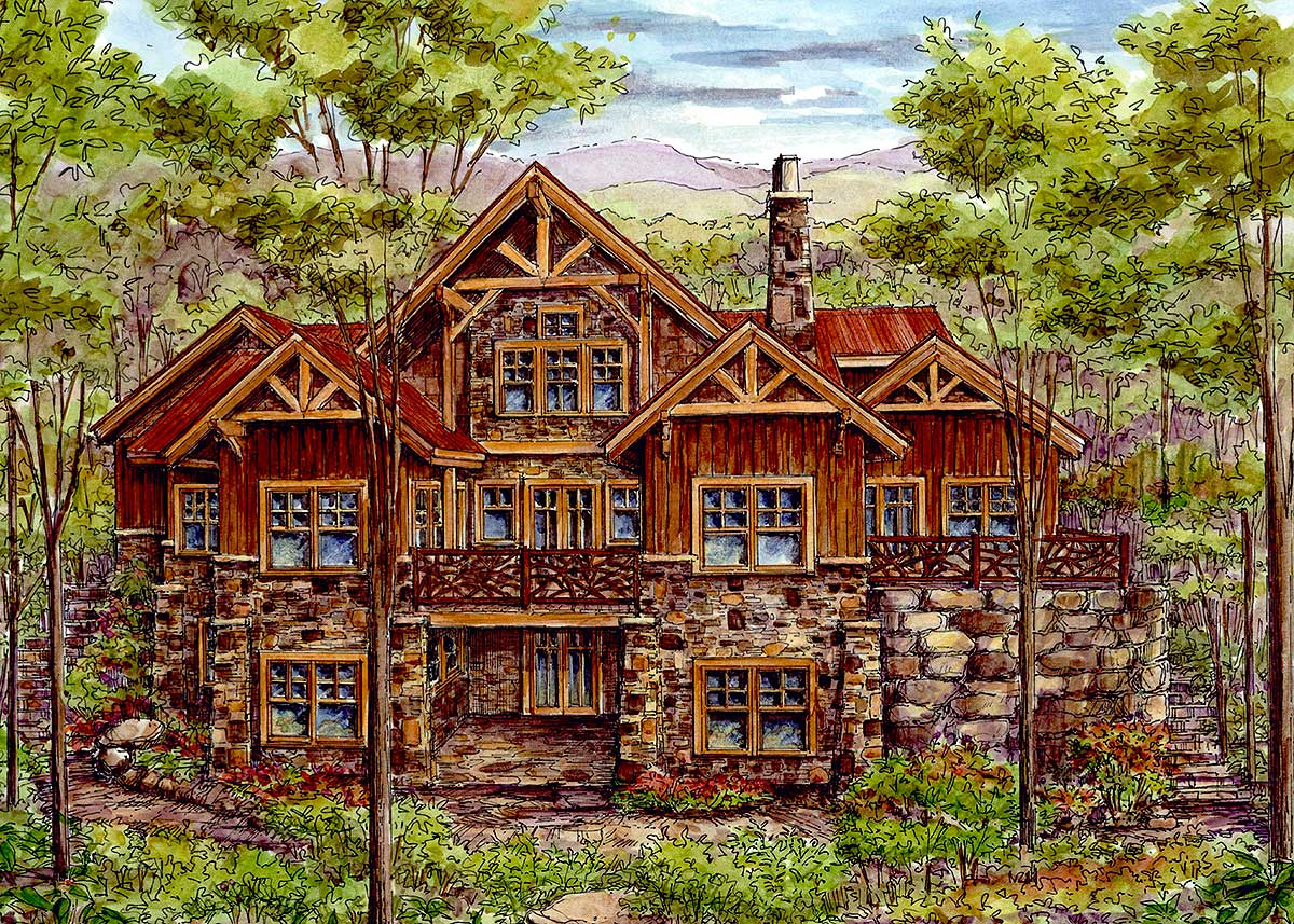 Luxury Log Cabin Home Plans
