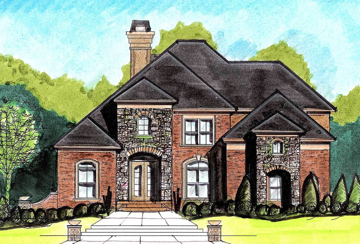 Stately European Home Plan - 13485by Architectural