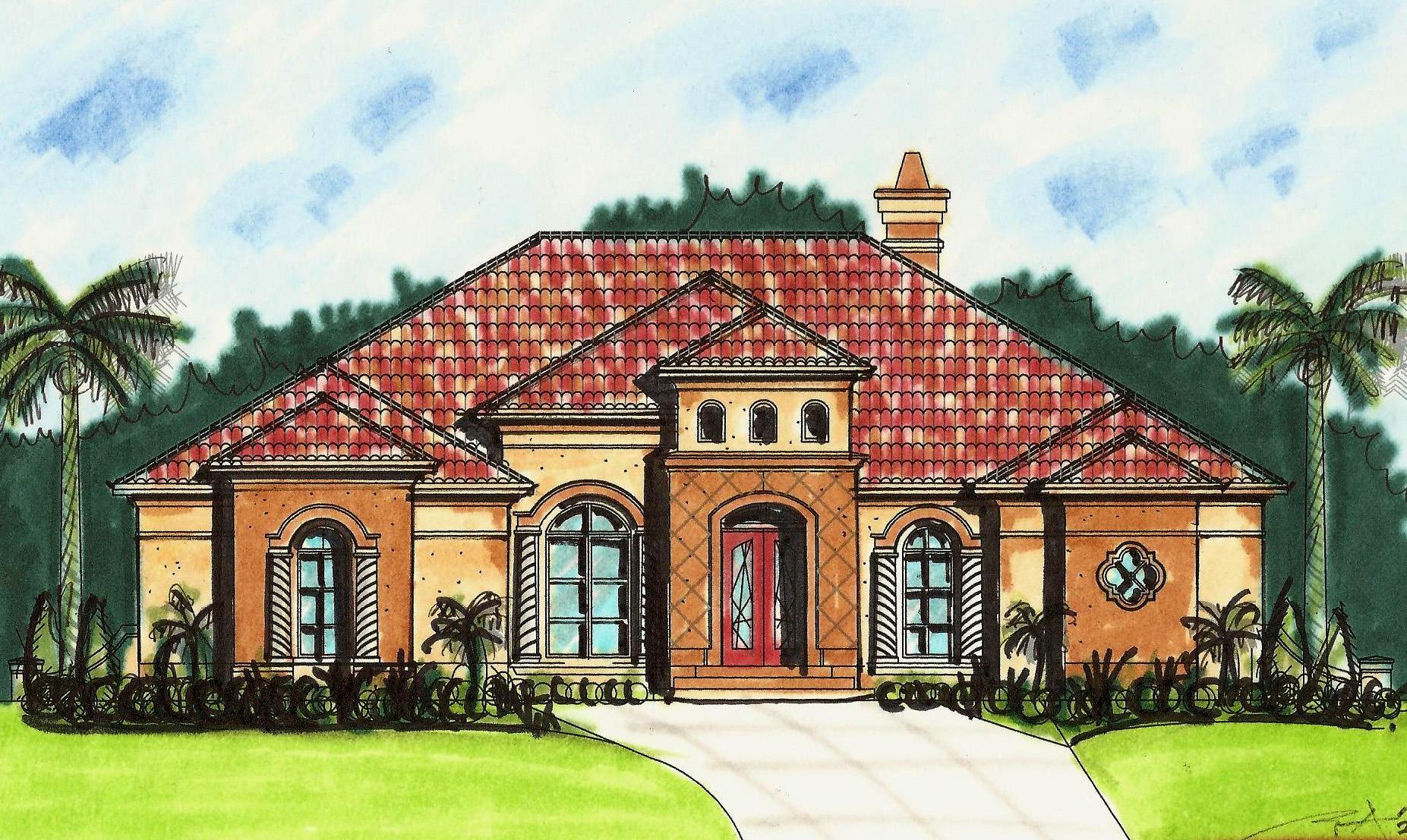 Open Mediterranean House Plans