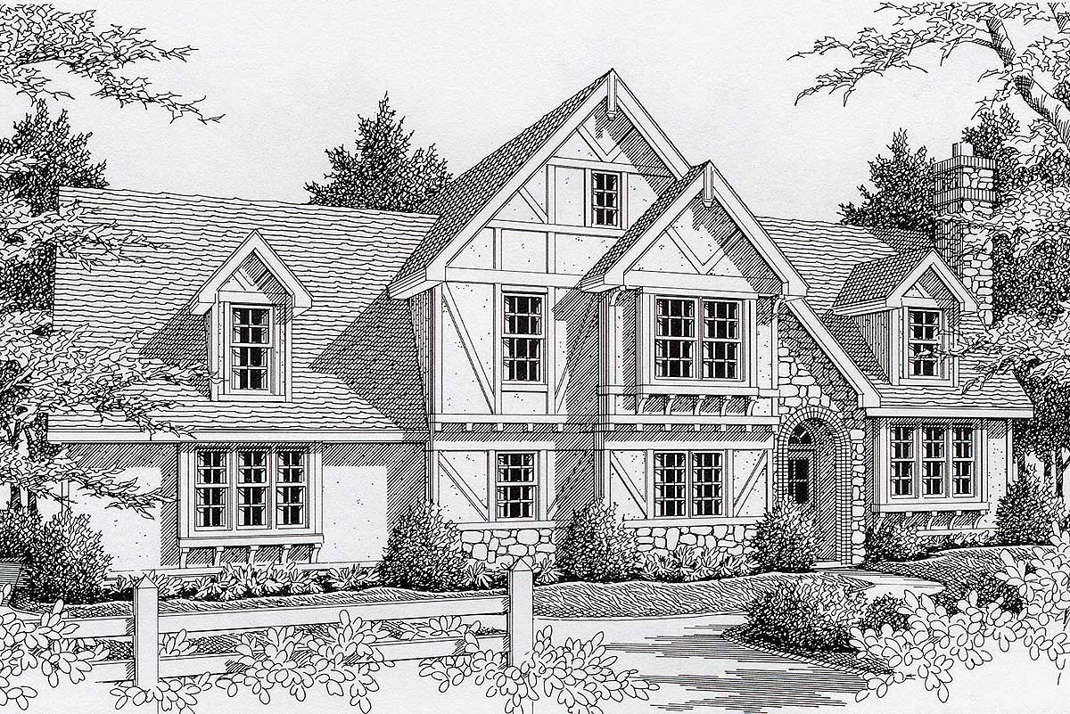 Terrific Tudor - 14015dt Architectural Design House Plans