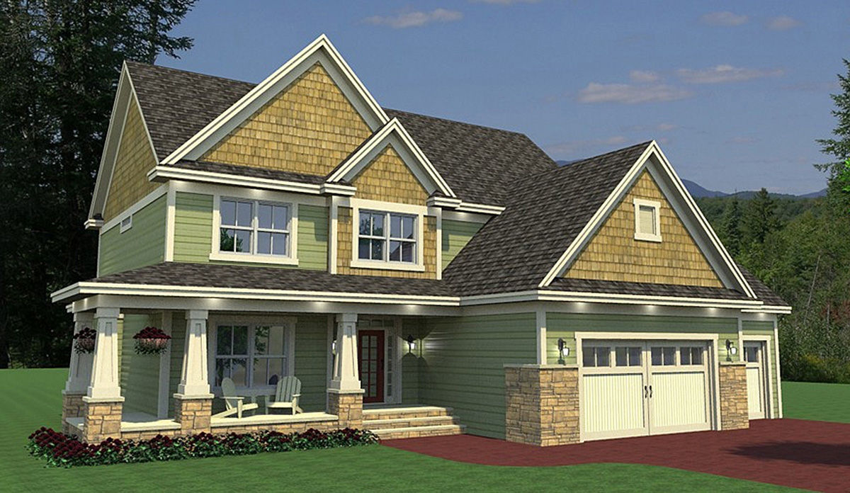 Craftsman House Plan with Sunroom  14642RK  Architectural Designs  House Plans