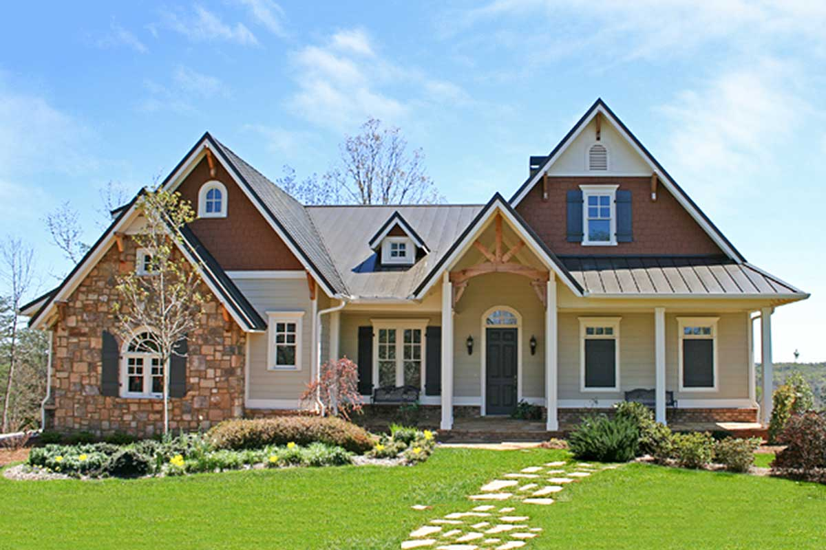 4-bed Mountain Craftsman House Plan With Side-entry Garage