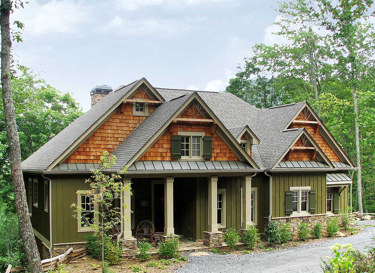 Rustic Lodge Home Plan - 15655ge 1st Floor Master Suite