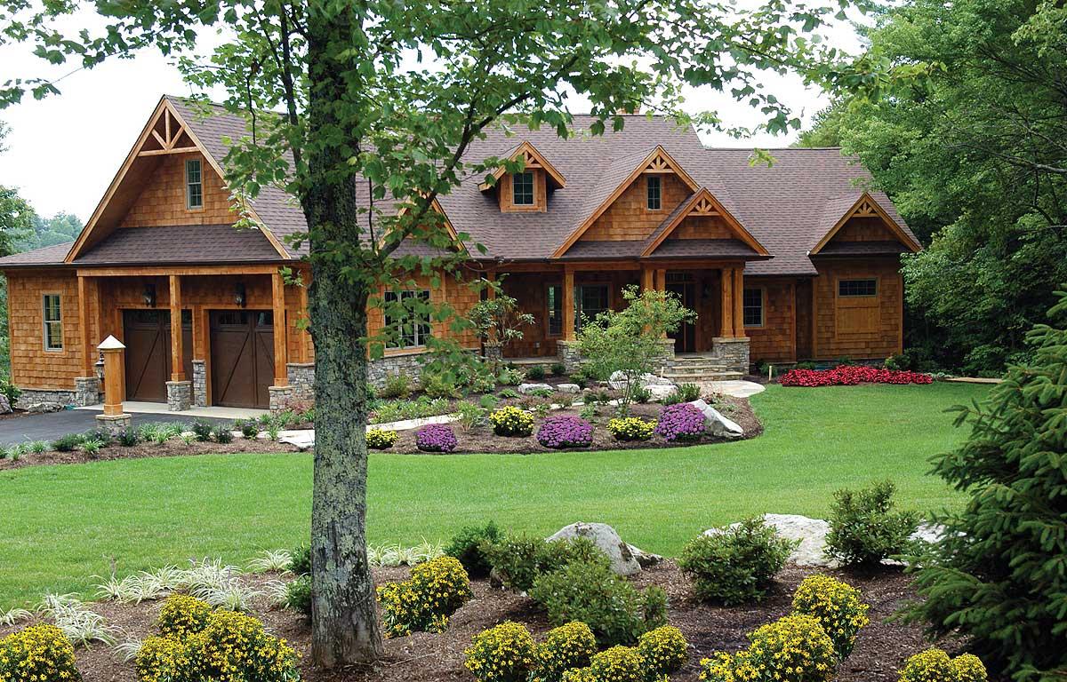 Stunning Mountain Ranch Home Plan  15793GE