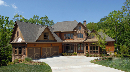 Lodge-Like Spin To A Classic Home Plan