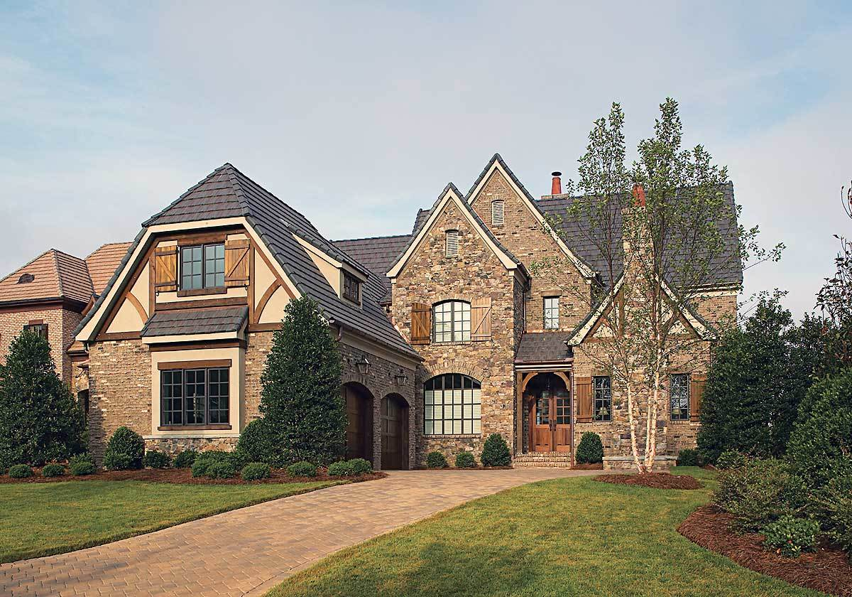 Ornate Tudor Luxury Home Plan - 17507lv Architectural
