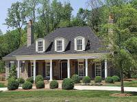 Country Plantation Style House Plan - 17690LV ...