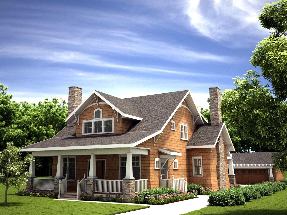 3-Bedroom Craftsman Bungalow House Plan