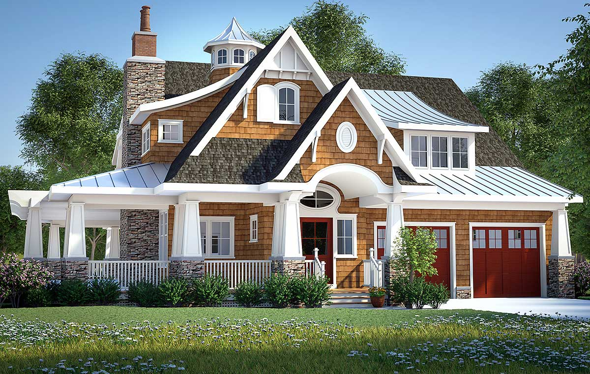 Gorgeous ShingleStyle Home Plan  18270BE  Architectural Designs  House Plans