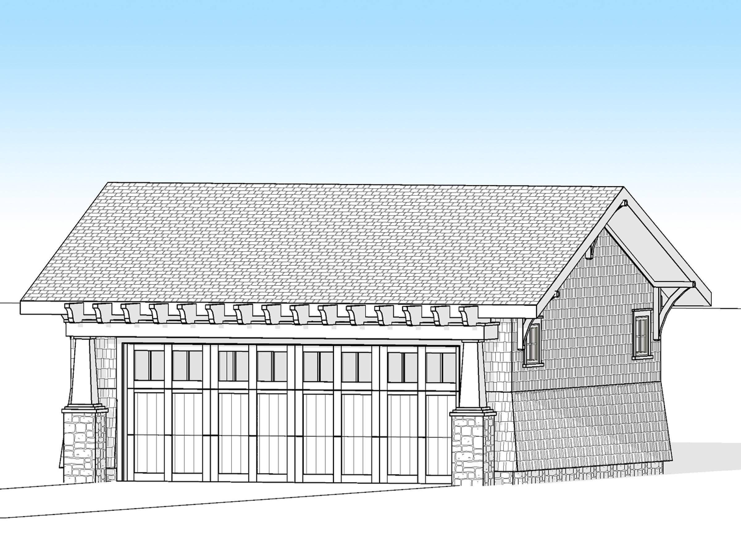 Craftsman 2 Car Detached Garage 18278be Architectural