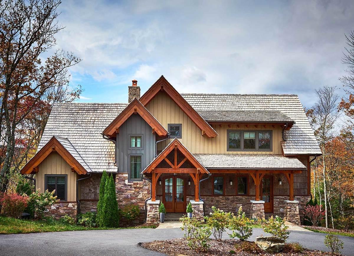 Informal Mountain Living  18716CK  Architectural Designs  House Plans