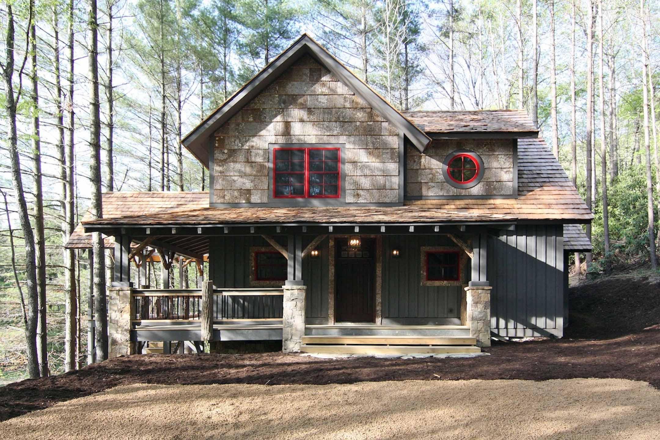 Mountain House Plans with Wrap around Porches