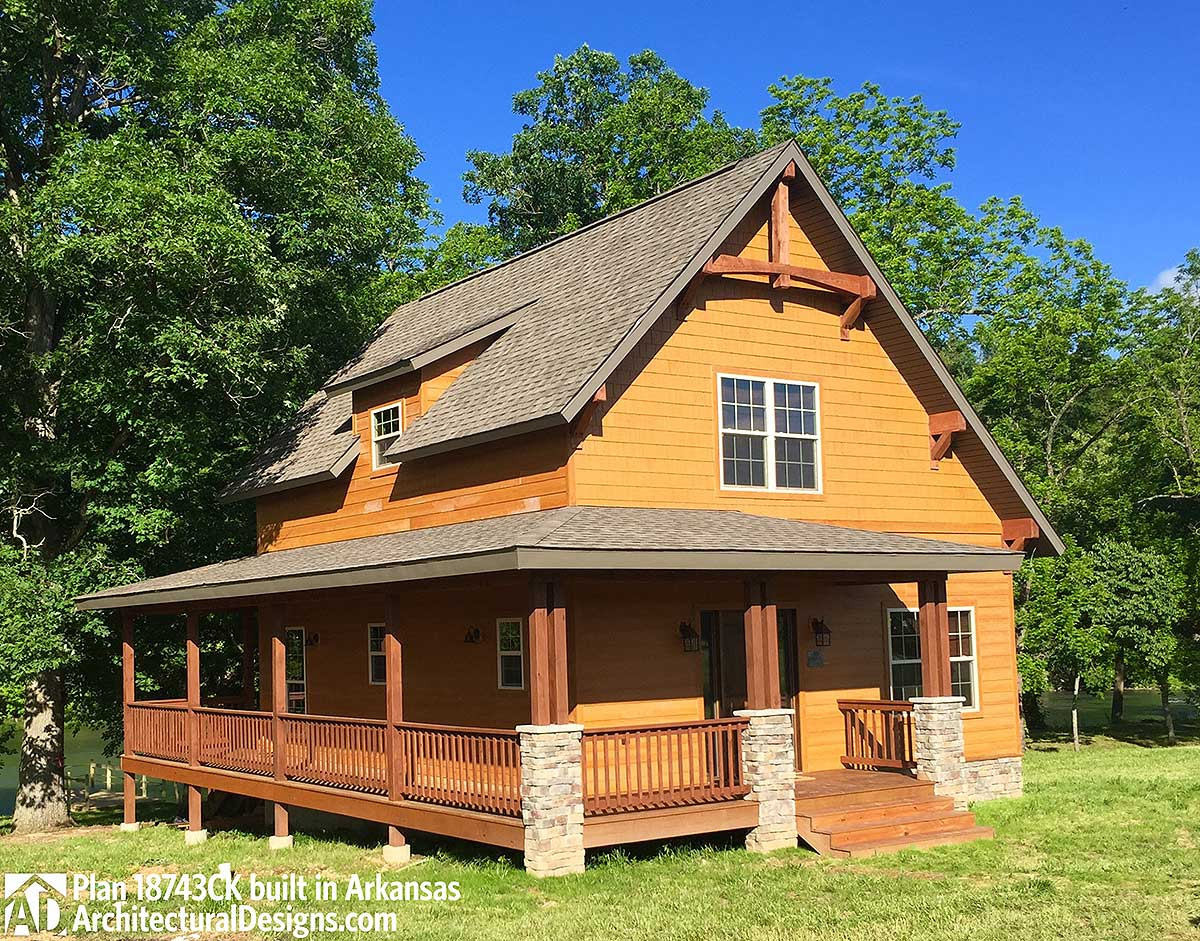 Classic Small Rustic Home Plan 18743ck Architectural