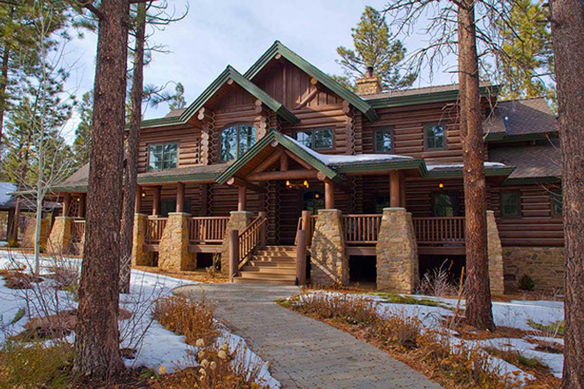 Luxury Log Cabin Porch Homes