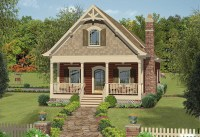 Narrow Lot Cottage with In-Law Suite - 20079GA ...