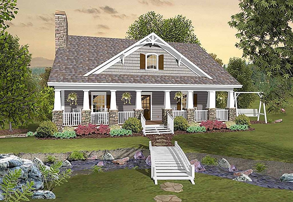 Greystone Cottage House Plan