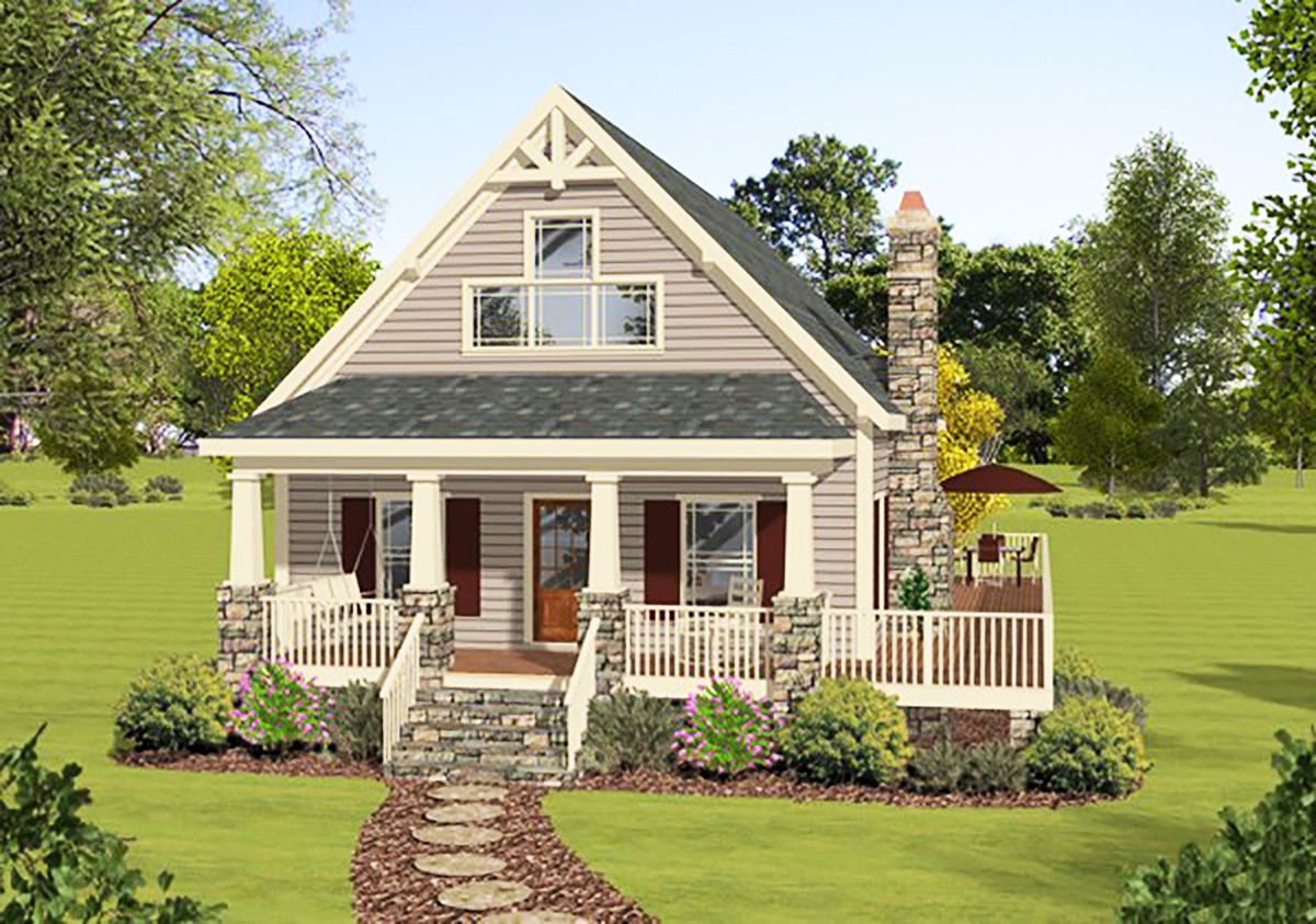 Cottage House Plans with Wrap around Porch