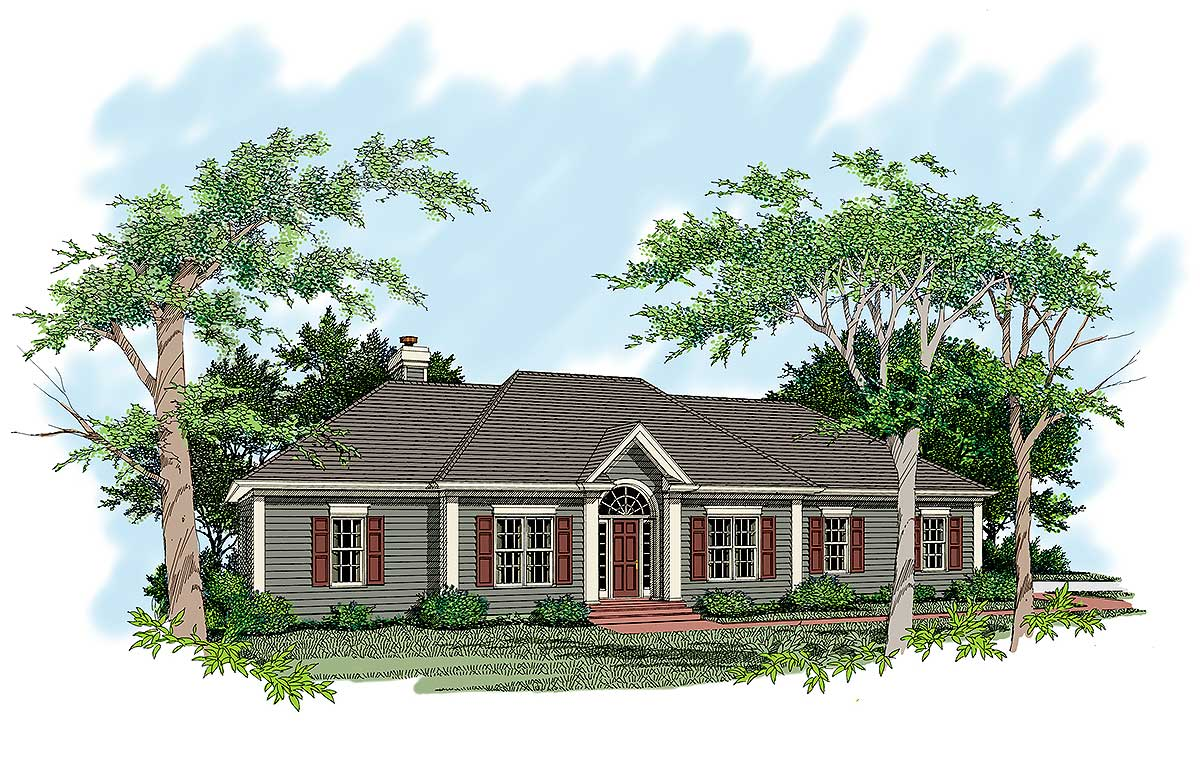 Sprawling Ranch Design 2019ga Architectural Designs