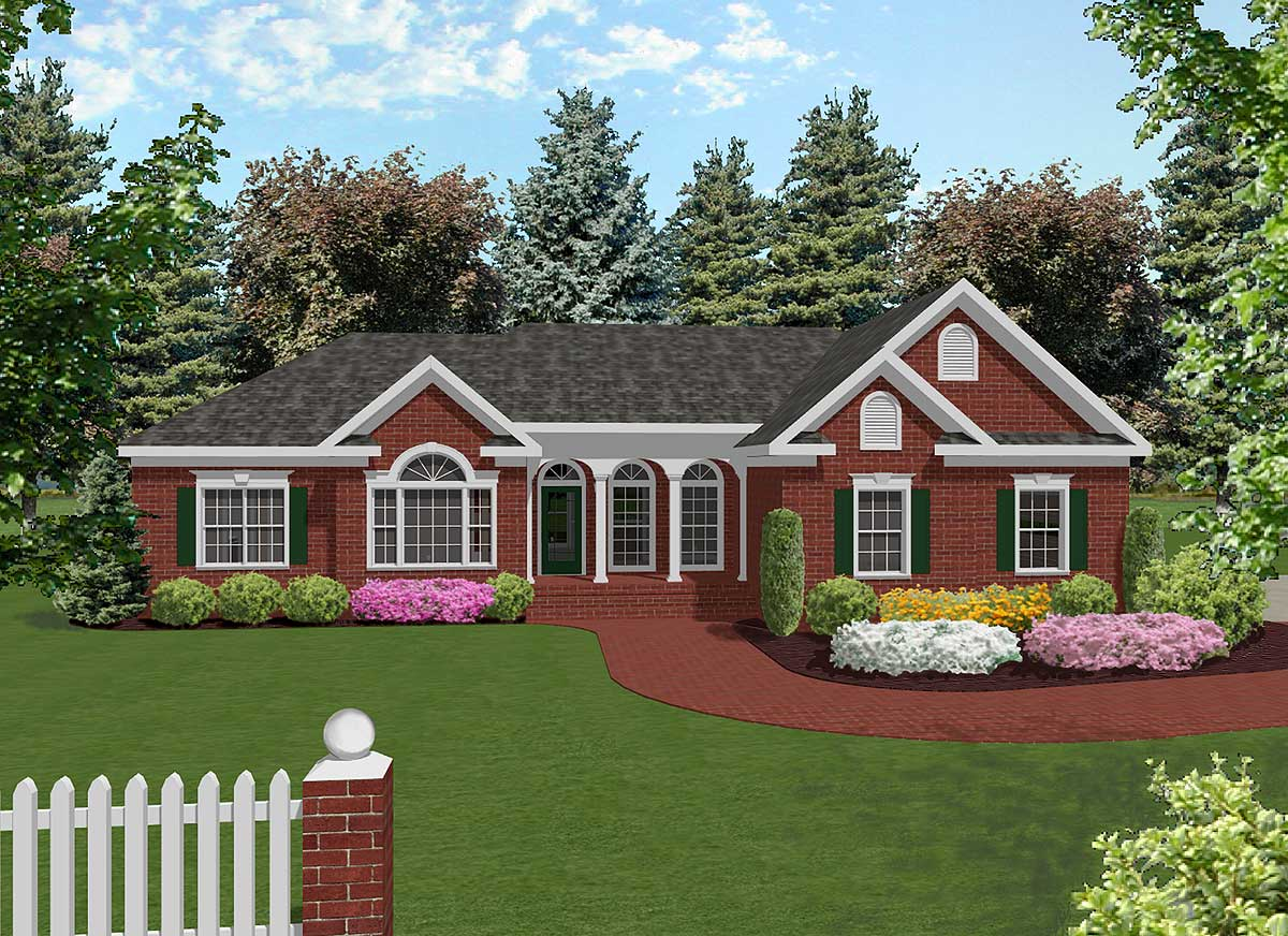 Attractive Mid-size Ranch - 2022ga Architectural Design