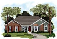 Traditional Brick Ranch Home Plan - 2092GA | Architectural ...