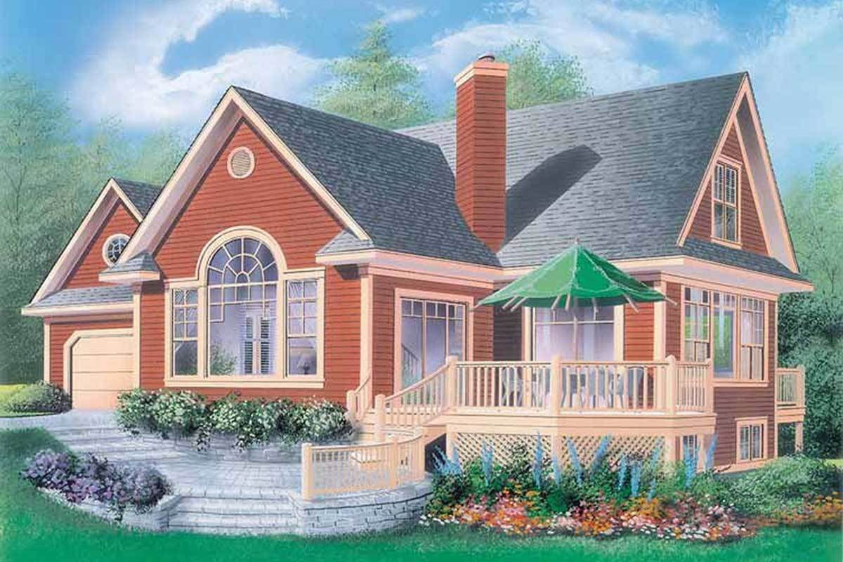 Charming Country Cottage - 2106dr Architectural Design