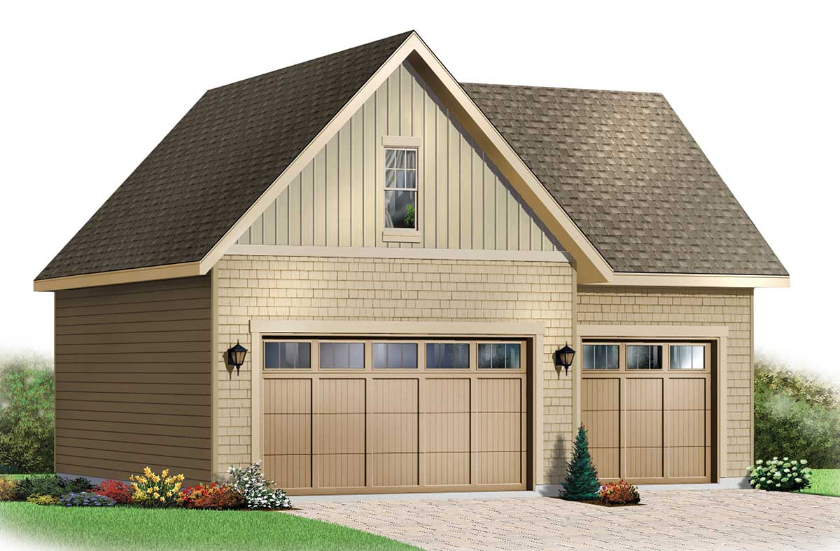Garage with Storage  Free Materials List  21202DR  Architectural Designs  House Plans