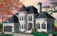 Distinctive 4-Bed House Plan with Turret and Options ...
