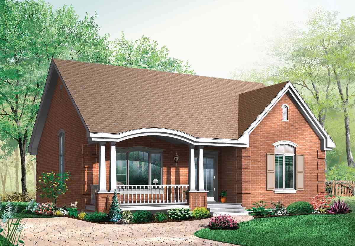Small Brick Home House Plans