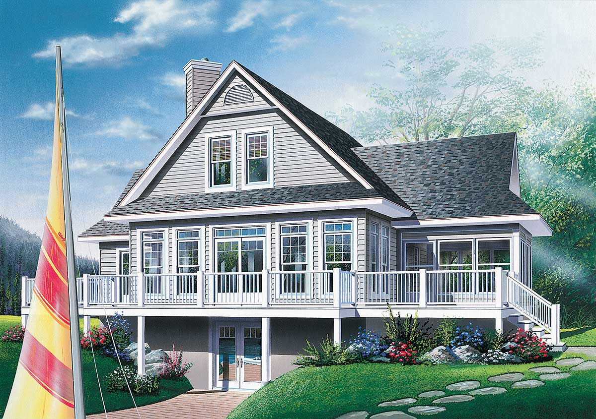 Lake House Plans with Walkout Basement