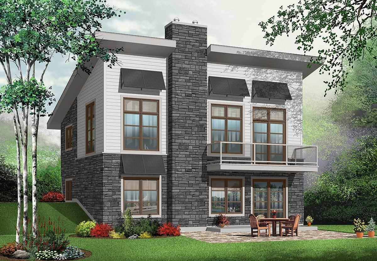 Modern House Plans Walkout Basement