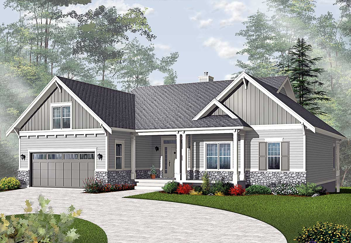 Airy Craftsman-style Ranch - 21940dr Architectural