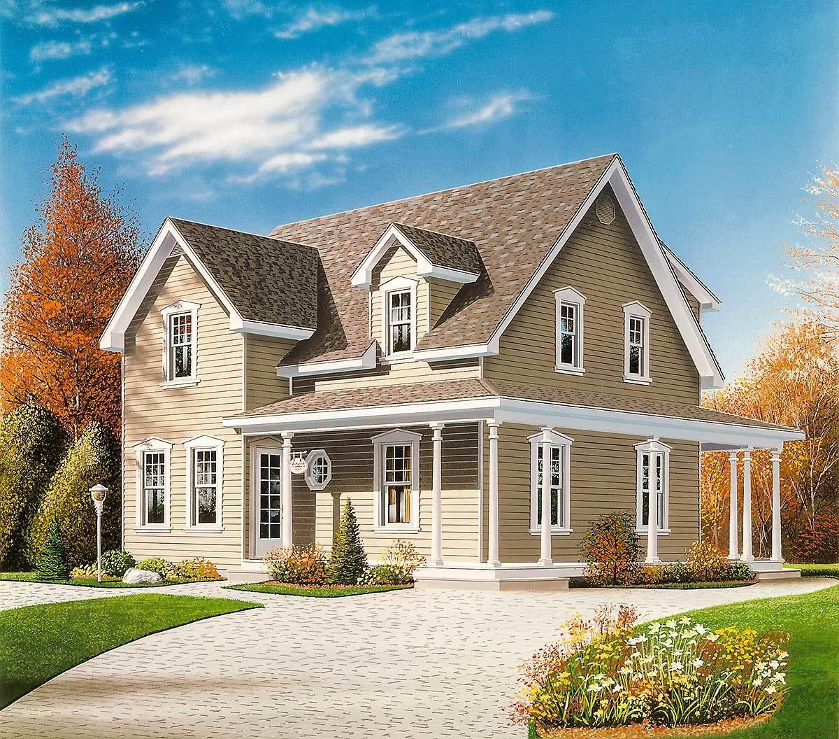 Farmhouse Plans with Porches